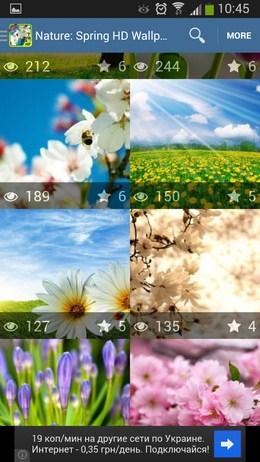 Миниатюры картинок - Nature: Spring для Android