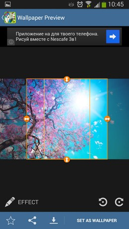 Настройки заставки - Nature: Spring для Android