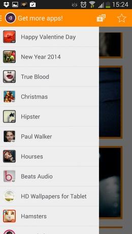 Меню категорий - Обои Ubuntu HD для Android