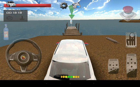 Смена вида камеры - Parking Island 3D для Android