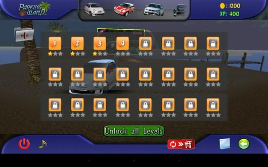 Все доступные задания - Parking Island 3D для Android