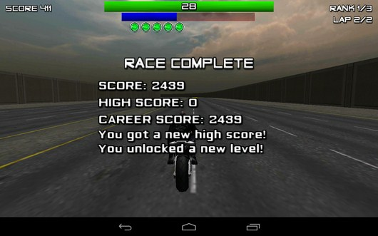 Рузультаты гонки - Race, Stunt, Fight, Reload! для Android
