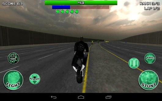 Стойка на мотоцикле - Race, Stunt, Fight, Reload! для Android