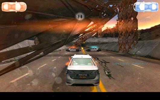 Впереди полиция - Racing Rush 3D: Death Road для Android