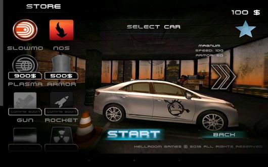 Выбор автомобиля - Racing Rush 3D: Death Road для Android
