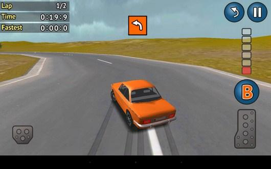 Проходим поворот Rally Cross для Android