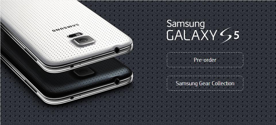 Предзаказ Galaxy S5