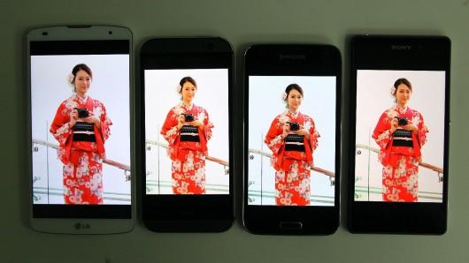 Сравнение Samsung-Galaxy S5 HTC One M8 Sony Xperia Z2 LG G Pro 2
