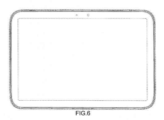 Дизайн Galaxy Tab 4 - вид сверху