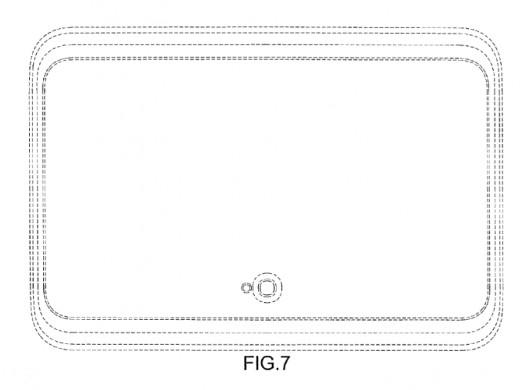 Патент Samsung о дизайне планшета