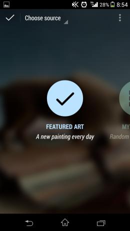 Выбор режима- Muzei Live Wallpaper для Android