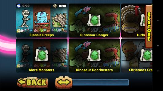 Доступные сцены - The Creeps! для Android