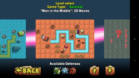 Выбор уровня - The Creeps! для Android