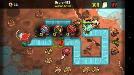 Выбор постройки - The Creeps! для Android