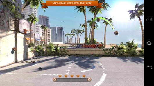 Вид на площадку - Slam Dunk Basketball 2 для Android