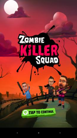Меню - Zombie Killer Squad для Android