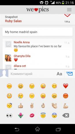 Смайлы - We Heart Pics для Android