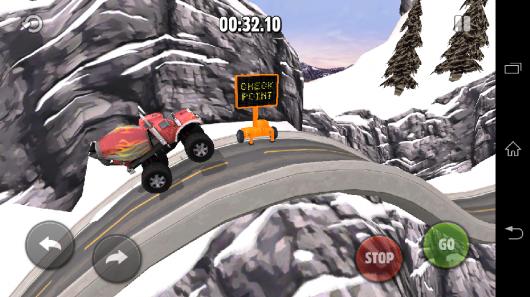 Зимняя трасса - Rig Racin' для Android