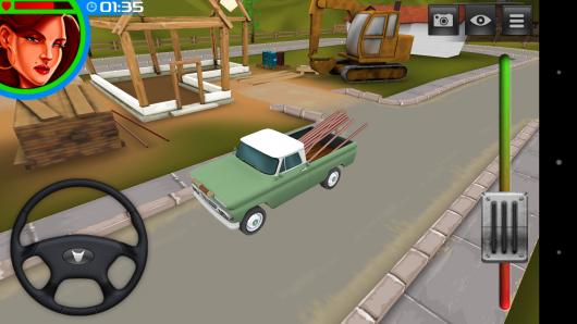 Вид сбоку - 3D American Truck для Android