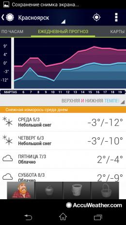 Прогноз на неделю - AccuWeather для Android