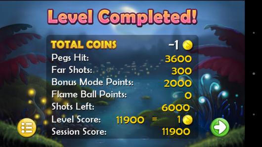 Результат игры - Pegland Deluxe для Android