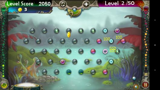 Расположение шаров в начале игры - Pegland Deluxe для Android