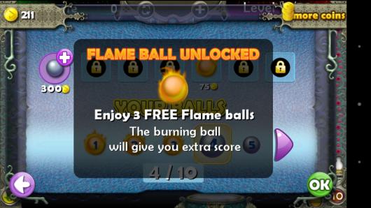 Дополнительные шарики - Pegland Deluxe для Android