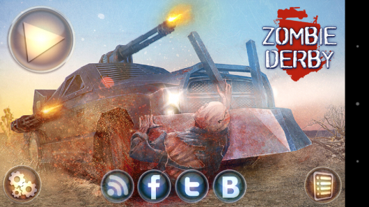 Меню -  Zombie Derby для Android