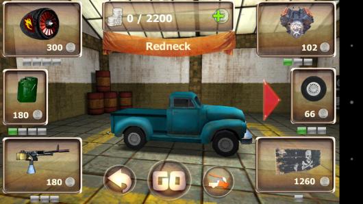 Выбор авто -  Zombie Derby для Android