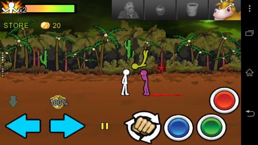 Кнопки управления - Anger of Stick 2 для Android