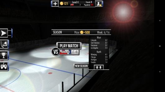 Расписание матчей - Hockey Showdown для Android