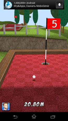 Площадка для мини-гольфа - My Golf 3D для Android