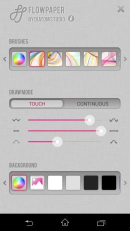 Настройка кисти - Flowpaper для Android