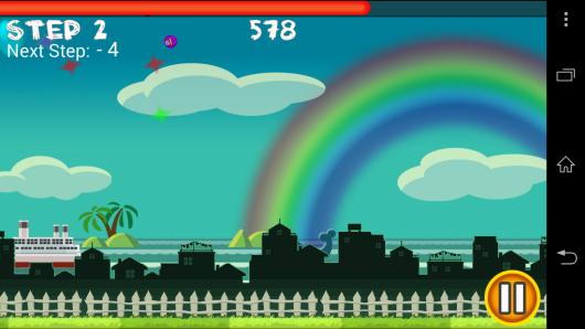 Сцена действий - Flick Home Run! для Android