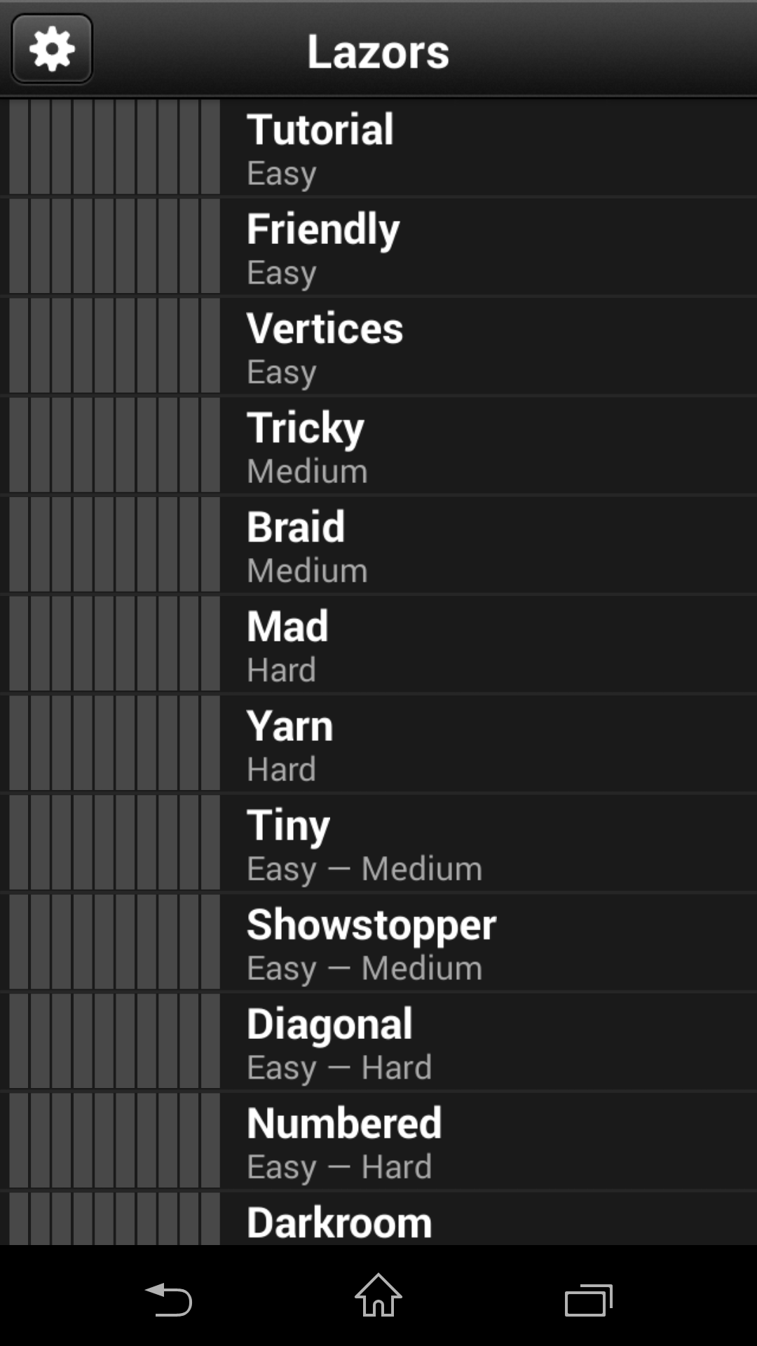 Режим игры - Lazors для Android