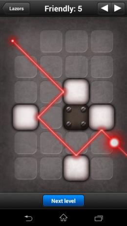 Прохождение уровня - Lazors для Android