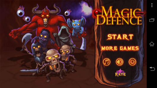 Меню - Magic Defense для Android