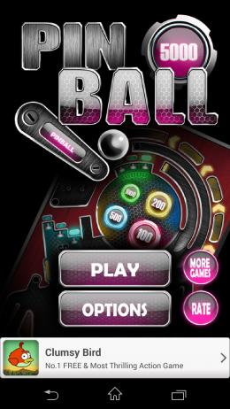 Меню - Pinball Pro для Android