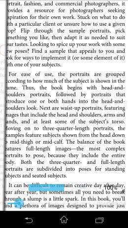Отображение текста - ezPDF Reader PDF для Android