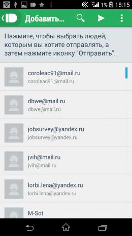 Контакты - Pushbullet для Android