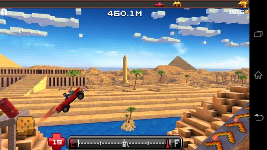 Прыжок с трамплина - Blocky Roads для Android
