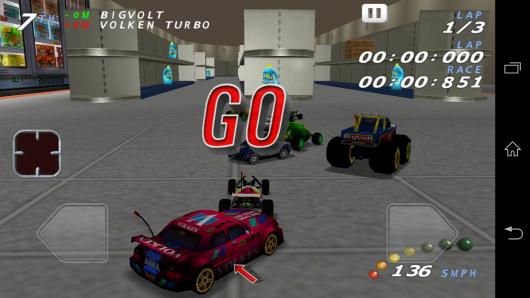 Старт - RE-VOLT Classic-3D Racing для Android