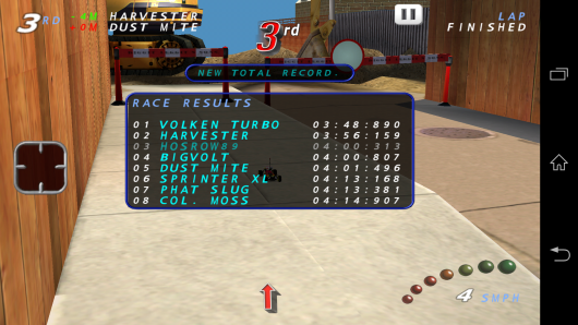 Результат игры - RE-VOLT Classic-3D Racing для Android