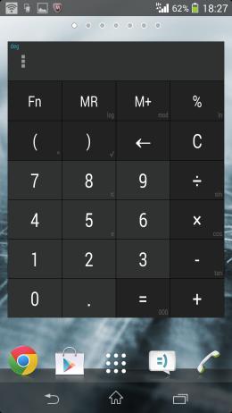 Калькулятор на рабочем столе - Calculator + Widget 21 themes для Android