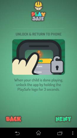 Разблокировка - Play Safe для Android