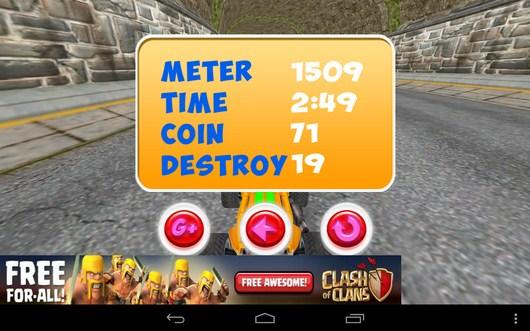 Конец заезда - Smash Monster Truck 3D для Android
