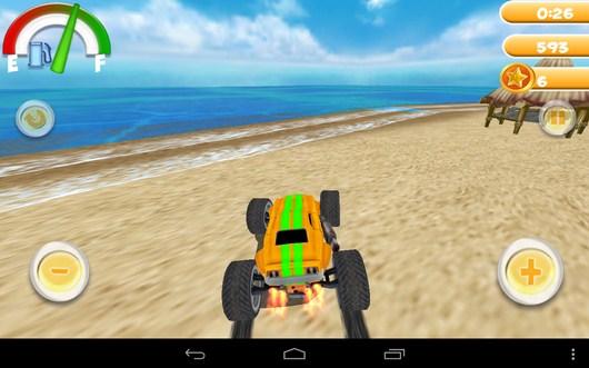 Начало гонки на пляже - Smash Monster Truck 3D для Android