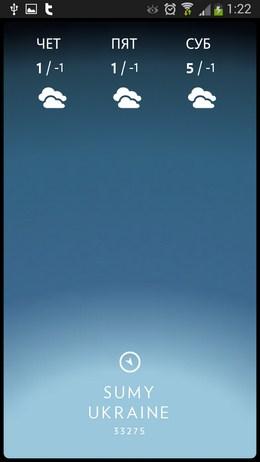 Погода на три дня - Solar для Android