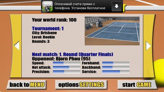 Выбор состязания - Stickman Tennis для Android