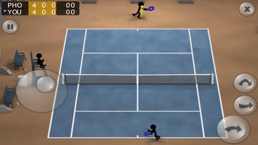 Первая подача - Stickman Tennis для Android